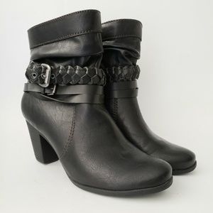 Axxiom Black Heeled Ankle Boots 8 1/2 M